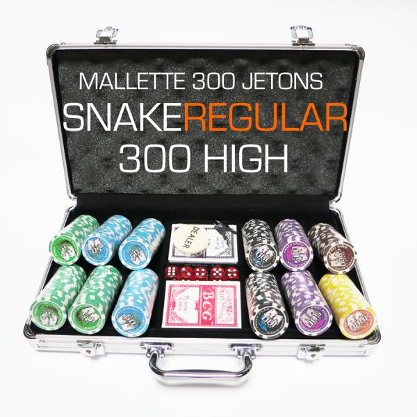 mallette de poker snake 300 high